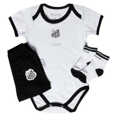 Kit Conjunto Santos Body Shorts e Meia Revedor