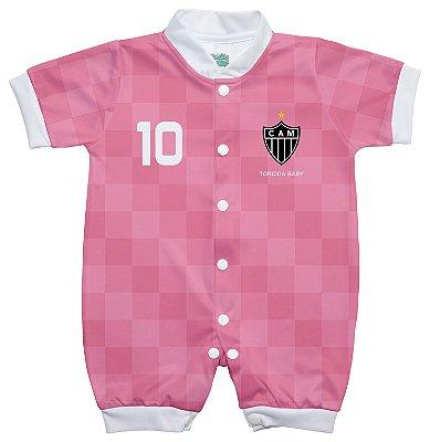 Macacão Bebê Atlético MG Rosa - Torcida Baby
