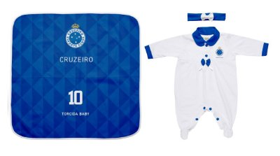Kit Maternidade Cruzeiro Com Manta e Tiara - Torcida Baby