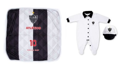 Kit Maternidade Atlético MG Com Manta - Torcida Baby