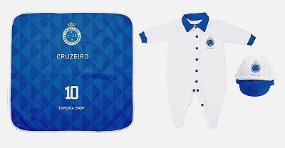 Kit Maternidade Cruzeiro Com Manta - Torcida Baby