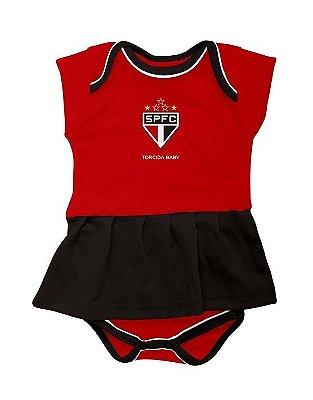 Body Vestido São Paulo - Torcida Baby