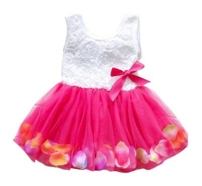 Vestido Bebê Tule Rosas