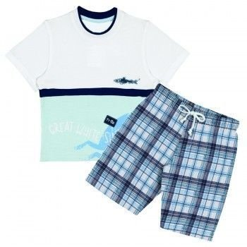 Conjunto Infantil Tip Top Surf Azul Claro