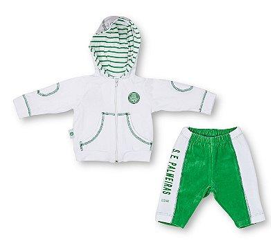 Agasalho Bebê Palmeiras Plush Feminino Oficial