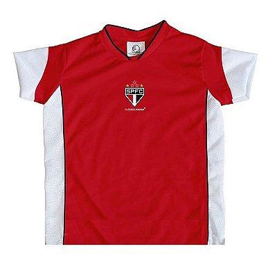 Camiseta São Paulo Infantil Vermelha Futebol Mania