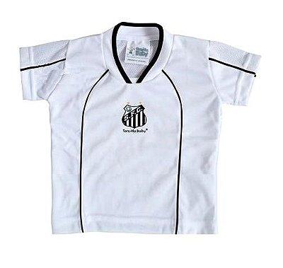 Camiseta Santos Infantil Branca Futebol Mania