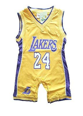 Macacão Basquete Bebê Lakers Regata