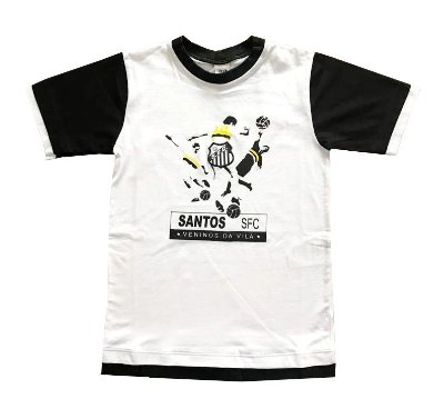 Camiseta Infantil Santos Meninos da Vila Oficial 8be1da52a165a