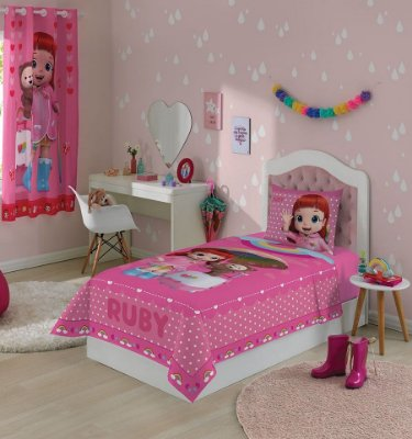 Jogo de Cama Infantil Rainbow Ruby Com 2 Peças