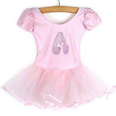 Vestido Infantil Ballet Rosa