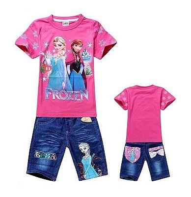 Conjunto Infantil Frozen Rosa