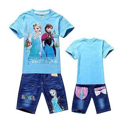 Conjunto Infantil Frozen Azul