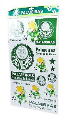 Cartela de Adesivos do Palmeiras Oficial