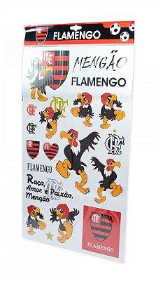 Cartela de Adesivos do Flamengo Oficial