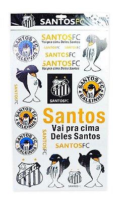 Cartela de Adesivos do Santos Oficial