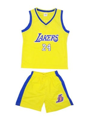 Conjunto Infantil Uniforme Lakers Amarelo
