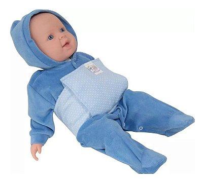 Bolsa Térmica Bebê sem Cólica com Cinta Poa Azul