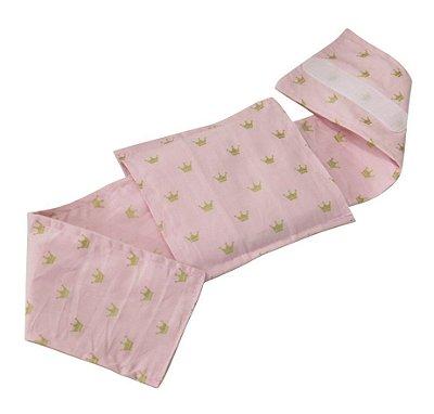 Bolsa Térmica Bebê Sem Cólica Com Cinta Coroa Rosa