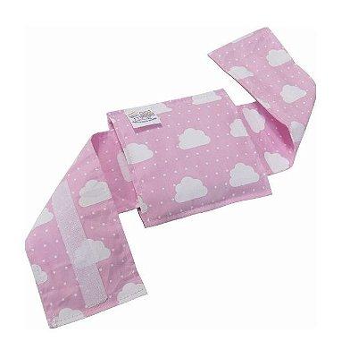 Bolsa Térmica Bebê Sem Cólica Com Cinta Nuvem Rosa