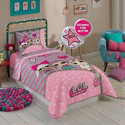 Edredom Infantil LOL Rosa 1,50m x 2,00m - Lepper