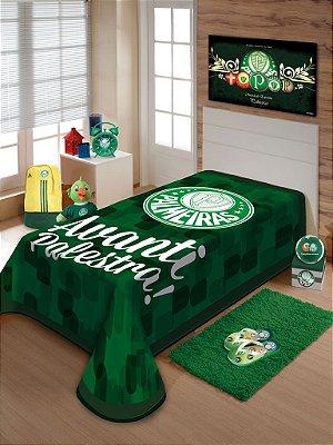 Cobertor Palmeiras Avanti Solteiro Jolitex 1,50 x 2,20m