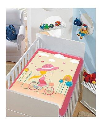 Cobertor Bebê Pink Mocinha 0,90 x 1,10m Jolitex