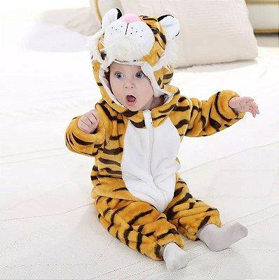 Macacão Bebê Tigrinho Plush Luxo