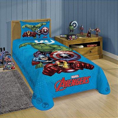 Jogo de Cama Infantil Avengers 2 Peças Lepper 1,50 x 2,10m
