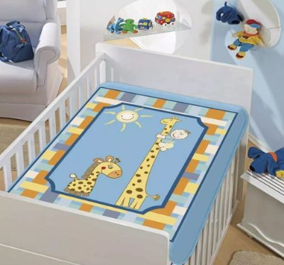 Cobertor Bebê Girafinhas 0,90 x 1,10m Jolitex