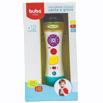 Microfone Musical Infantil Canta E Grava Buba
