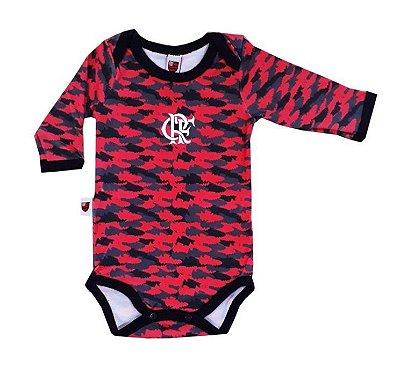 Body Flamengo Camuflado Manga Longa Oficial
