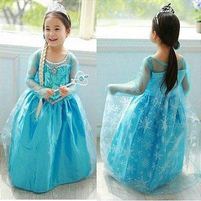 Vestido Fantasia Elsa Frozen