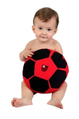 Bola Almofada Bebê Flamengo Revedor