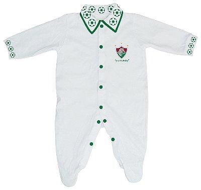Macacão Bebê Fluminense Longo Bolinhas - Torcida Baby