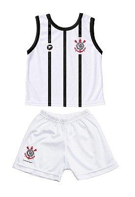 Conjunto Corinthians Bebê Regata - Torcida Baby