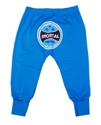 Calça Mijão Bebê Azul Imortal Tricolor