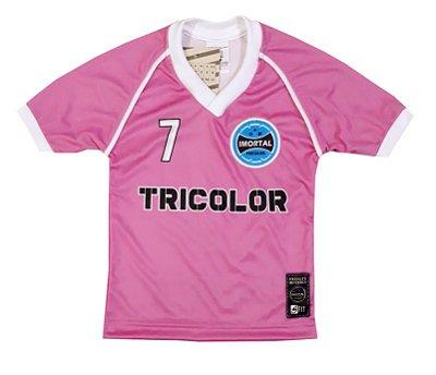 Camisa Infantil Rosa Imortal Tricolor
