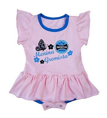 """Body Vestido Imortal Tricolor Rosa """"Menina Gremista"""""""