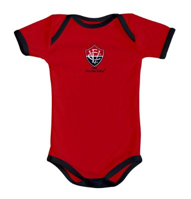 Body Bebê Vitória Oficial Vermelho - Torcida Baby