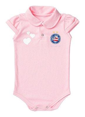 Body Bebê Polo Rosa Torcida Baby Oficial
