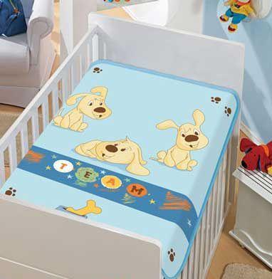 Cobertor Bebê Time Azul 0,90 x 1,10m Jolitex