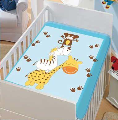 Cobertor Bebê Azul Bagunça 0,90 x 1,10m Jolitex