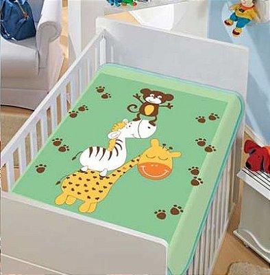 Cobertor Bebê Verde Bagunça 0,90 x 1,10m Jolitex