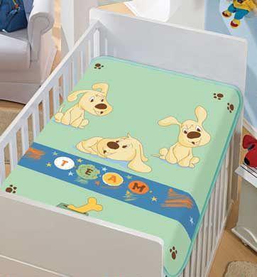 Cobertor Bebê Verde Time 0,90 x 1,10m Jolitex
