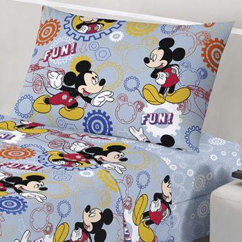 Jogo de Cama Infantil Disney Mickey Fun 3 Peças Santista