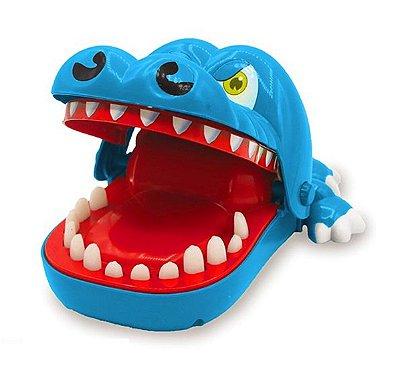 Jogo Infantil Mordida do Jacaré Azul Unik Toys