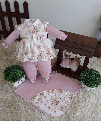 Saída Maternidade Floral Meninas Mundo Colorido