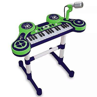 Piano e Teclado Eletrônico Infantil Verde Unik Toys
