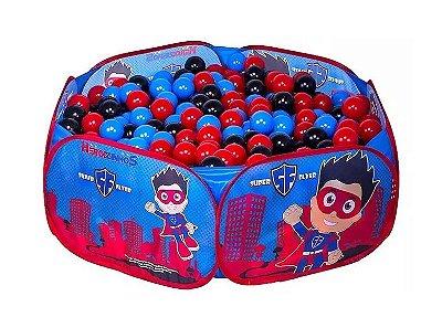 Piscina de Bolinhas Heroizinhos Azul Unik Toys